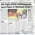 Un train-hôtel contemporain vers paris à l'horizon 2020 ?