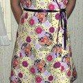 Une robe portefeuille (un vieux modèle cloné)