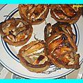 Tartelettes aux poires et miel