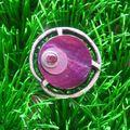 Bague design violet et argent