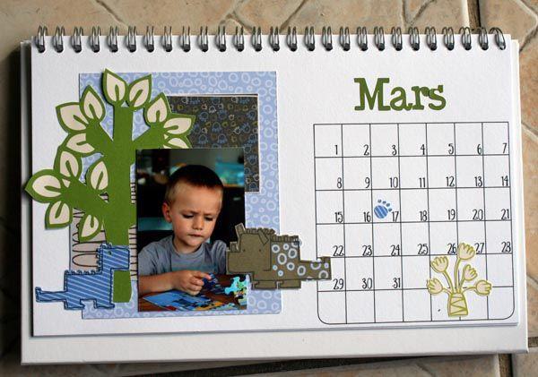 calendrier de bureau TOGA mars