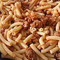 Macaronis aux deux viandes