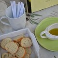 Goûter l'huile d'olive grecque