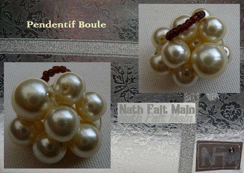 Pendentif Boule Nacre