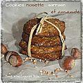 Cookies noisette, sarrasin , amande .