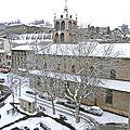 Neige abondante sur saint-chamond le 15 janvier 2013