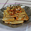 Mahjouba, mhajeb, msemens aux morceaux de poulet