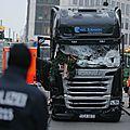 Attaque au camion : la police berlinoise «pas certaine» d'avoir arrêté le conducteur