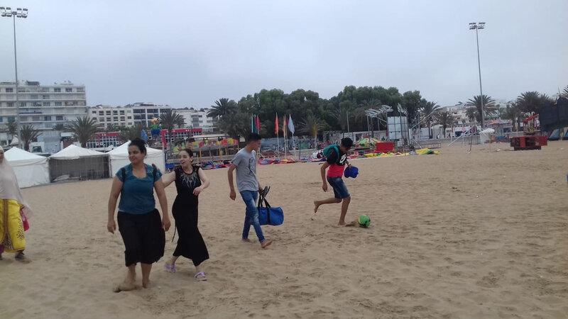 le bonheur d'arriver sur la plage