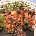 Poêlée de kale & carottes aux lardons
