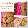 Cookies romarin-thym aux noix et raisins