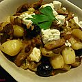 Gyros grec aux pommes de terre, olives et feta
