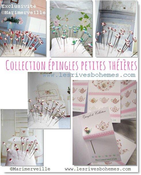 Collection épingles petites théières