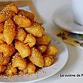 Les doigts de zineb, petit gâteau oriental au miel et sésame