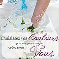 Nuancier, bijoux mariage en couleur