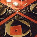 Table rouge et noire