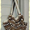sac boule brun