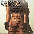 5 minute at home tabata workout
