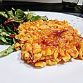 Gratin de pâtes à la sauce tomate (maison)