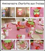 Anniversaire Charlotte aux fraises