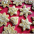 Pains d'épices décorés de Noël