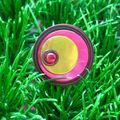 Bague métal bronze,rose et vert anis