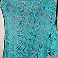 Un duo turquoise en lace de dropsdesign