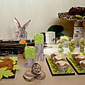Sweet table - decorations pour table gourmande theme noel nature