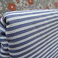 Coton à rayures bleu et blanc