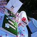 Mariage theme Garden au CHATEAU DE CESARGES table coin des invités avec Urne, Livre d'or, Arbre à empreinte Candy bar (2)