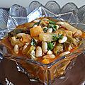 Soupe de haricots blancs et legumes / minestrone