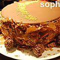 Gâteau au chocolat et sa mousse au toblerone.