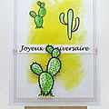Carte cactus - cactus card
