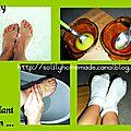 Gommage et hydratation intense des pieds