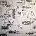 fond planche écriture