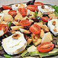 Salade fromagère et fruits