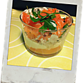 Verrine pamplemousse saumon