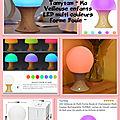 🍄 ma veilleuse led / lampe de chevet forme boule : test en cours 🍄