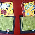 2 mini-cartes assorties, thème rentrée