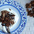 Granola croustillant au chocolat, noix de coco et amandes