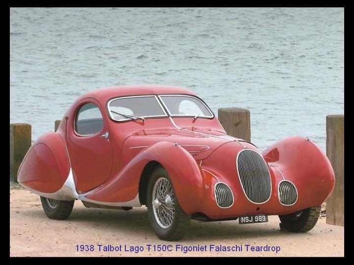 1938 - Talbot Lago T 150C Figoniet Falaschi Teardrop