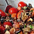 Salade d'aubergine aux épices