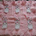 Couverture granny lapins