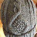 bonnet à torsades Gris anthracite