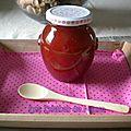 Confiture rhubarbe, fraises, vanille