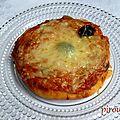 Mini-pizza aux poivrons avec ou sans fromage