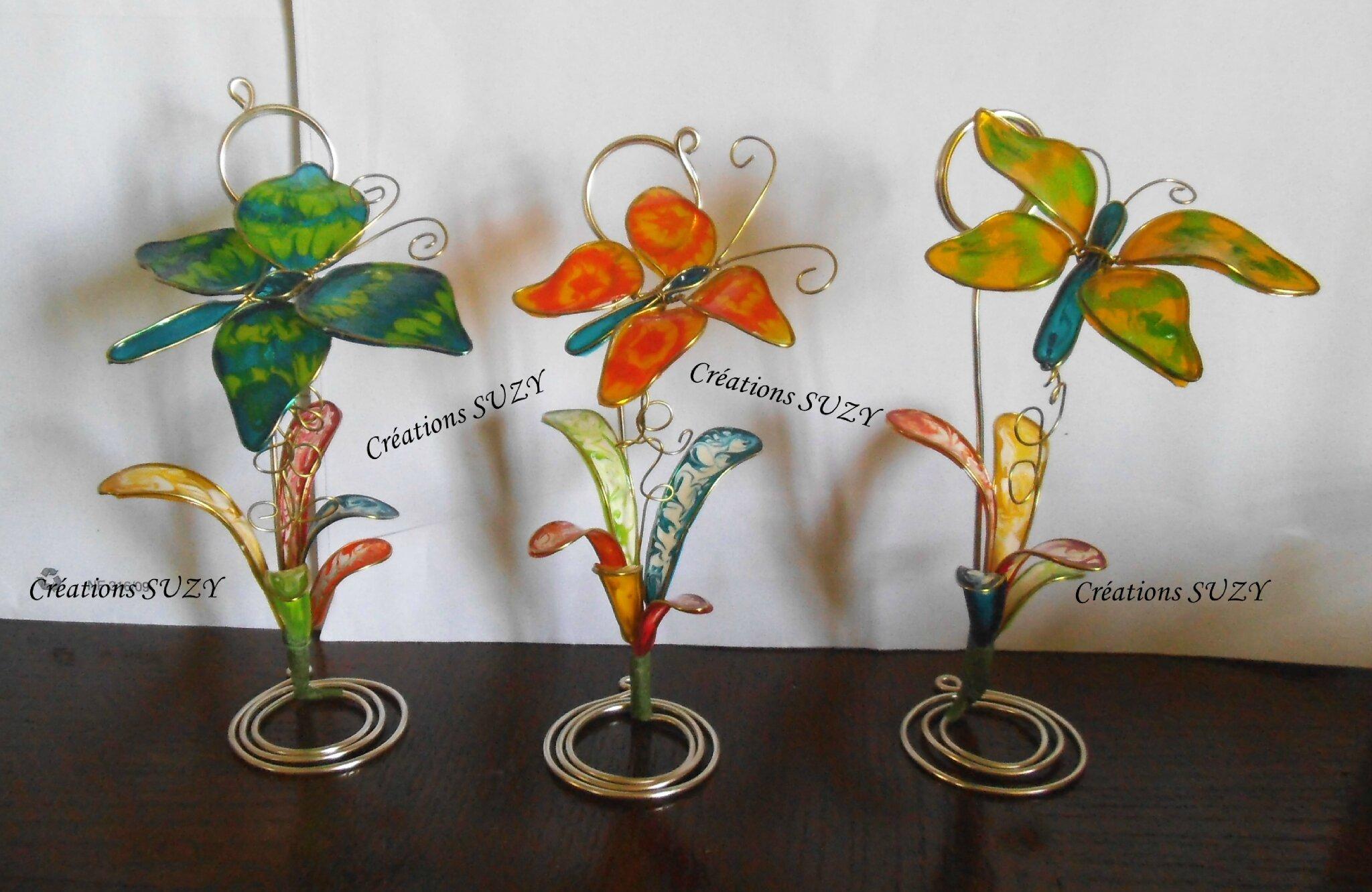 Papillons en peinture façonable suite
