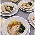 Poulet poche aux légumes & aïoli - pollo escalfado a las verduras & aïoli