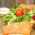 Tartine de saumon fumé et crème ciboulette
