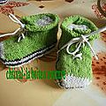 chaussons type convers vert